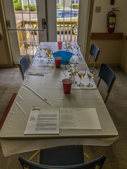 2018 - photo 160 of 365 - AWNS judges table setup (old_hippy1948) Tags: table wine glasses