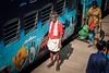 Man standing on railway platform (Kristaaaaa) Tags: india travel train railway fujifilm culture poverty peo people fujixt2