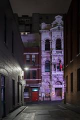 Melbourne Lanes 4 (WayneG58) Tags: singlelight purple noir lane chinatown morning longexposure australia victoria melbourne