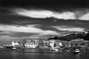 Coastal Town (PJ Swan) Tags: whitby yorkshire england coastal town seaside ocean dracula mono clouds