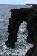 sea arch (GEO_Matt) Tags: bigisland chainofcraterroad kalapana hvo hawaiinnationalpark kilauea seaarch lava eruption life green ferns bluesky pacific ocean magma crust water steam earth geology volcanic sight seeing crater usa hilo kona
