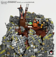 Game of Thrones - Bear and the Maiden Fair - by Barthezz Brick 26 (Barthezz Brick) Tags: lego legos game thrones gameofthrones geek moc afol custom minifig minifigure minifigures house bolton lannister tarth jaime brienne locke castle medieval fantasy got bear maiden fair barthezzbrick barthezz brick spear sword armor shield knight crossbow