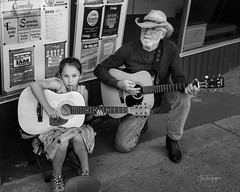 Generations (jonlepper) Tags: streetmusicweek guitarist monochrome musician music