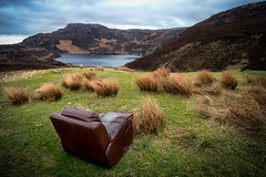 Armchair view (mickreynolds) Tags: donegalireland nx500 wildatlanticway lough salt armchair lake mountain rushes