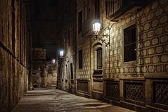 Nocturno barcelonés (juanmzgz) Tags: barcelona cataluña españa calle nocturno farolas ciudad