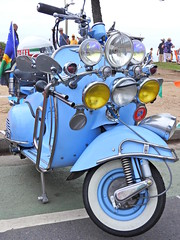 Let there be light (Couldn't Call It Unexpected) Tags: motor scooter blue light vespa wasp