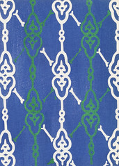 Vintage woodblock print of Japanese textile from Shima-Shima (1904) by Furuya Korin. Digitally enhanced from our own original edition. (Free Public Domain Illustrations by rawpixel) Tags: illustration publicdomain furuya furuyakorin korin otherkeywords shimashima tags antique asian background blue cc0 decoration design fabric graphic green illustrated japan japanese name old pattern plate print printed style textile textured vintage wallpaper woodblock woodblockprint woodcut