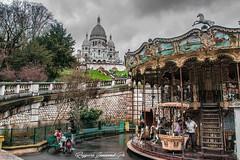 Basilica Sacro cuore in Parigi (baridue) Tags: sacrocuore parigi montmartre carousel giostra