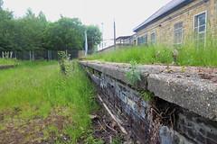 Former GC platform at Penistone station. May 2018 (dave_attrill) Tags: penistone railway platform station remains disused overgrown barnsley sheffield southyorkshire greatcentral gc gcr electrified mainline passenger goods beeching cuts report sheffieldtomanchester woodhead woodheadroute closed closed1970 may 2018 sheffieldvictoria 1954 1970 1981 wortley oxspring class76 class26