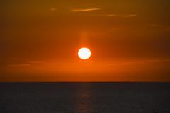 Sunset (Rudi Pauwels) Tags: danmark denmark denemarken sunset water sky orange reflection evening sooc kattegatt zoom 18270mm tamron tamron18270mm nikon d7100 nikond7100