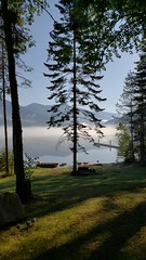 Morning fog at the cabin (ram_consulting) Tags: kootenay lake
