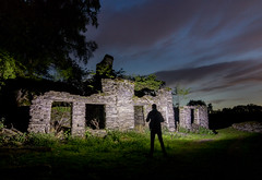 Discovering (Rob Pitt) Tags: betwsycoed night photography rhiwddolion forgotten village at light painting cymru wales tokina 1116 dusk grass