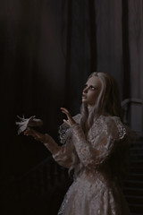 her darkness (dolls of milena) Tags: bjd abjd resin doll dollshe amanda dark portrait