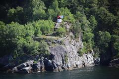 Solar light house (Sven Bonorden) Tags: lighthouse leuchtturm solar solaranlage solarpanel felsen rocks coast küste wald forest nature wilderness wildnis norwegen norway norge nordsee northsea