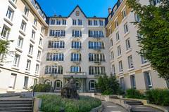 Cite universitaire (jmarnaud) Tags: france paris 2018 spring cite universitaire people building walk blue sky