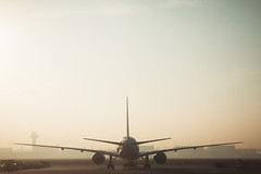 White and Gray Airplane (2kreviews) Tags: aeroplane air travel aircraft airline airliner airplane airport aviation daytime engines flight flying foggy plane runway sky takeoff tarmac technology tower transportation system wind