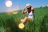 S.P. (Sareni) Tags: sareni serbia srbija sp portreit portret grass trava sky nebo woman zena bokeh colors boje tree trees drvo drvece baric field livada polje poljana shadows senke spring prolece april 2018 twop