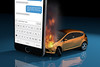 Fiery accident from texting and driving (QuoteInspector) Tags: textingwhiledriving distracteddriving drivingandtexting texting textmessage accident driving collision teen teenager distracted distraction cellphone distracteddriver text wreck