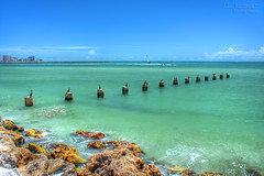 Abandoned Pier Pilings - Clearwater Beach, Florida (J.L. Ramsaur Photography) Tags: jlrphotography nikond5200 nikon d5200 photography photo clearwaterbeachfl centralflorida pinellascounty florida 2013 engineerswithcameras sandkey photographyforgod thesouth southernphotography screamofthephotographer ibeauty jlramsaurphotography photograph pic beach ocean gulfofmexico water blue clearwaterfl sand waves rocks blueoceanwater tennesseephotographer landscape southernlandscape nature outdoors god'sartwork nature'spaintbrush wherethemapturnsblue ilovethebeach bluewater sea bluesky deepbluesky beautifulsky whiteclouds clouds sky skyabove allskyandclouds hdr worldhdr hdraddicted bracketed photomatix hdrphotomatix hdrvillage hdrworlds hdrimaging hdrrighthererightnow hdrwater abandonedpierpilings pierpilings pilings oldpier pierremnants rockswater