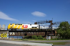 VIA 905 (Michael Berry Railfan) Tags: via905 via64 viarail passengertrain train ge generalelectric genesisseries p42dc sthyacinthesub peelbasin lachinecanal montreal quebec