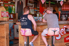 A Little Behind... (Jill Clardy) Tags: 2018 cruise ncl norwegiancruiselines repositioning 201804239l8a4107 senor frogs restaurant bar but cheeks thong humor funny embarrassing men guys butt derriere behind cantina barstool stool cheeky