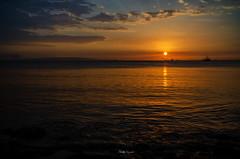 Dias de Junio....!!! (Nita_Fotos) Tags: sun sundown clouds blue orange sol atardecer nubes naranja cielo mountain montañas agua backligh contraluz barcos botes ships lecheria venezuela tuniñasalvajedelaselva