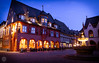 The Invitation (dlerps) Tags: daniellerps lerps sigma sony sonyalpha sonyalpha77 sonyalphaa77 lerpsphotography twilight goslar niedersachsen germany de bluehour urban city night longexposure architecture building house norddeutschland dusk dawn light lights evening dark fountain hotel civiltwilight square