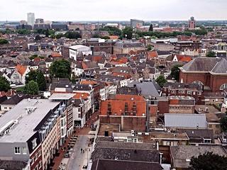 Den Bosch vanaf de Sint Jan's kathedraal