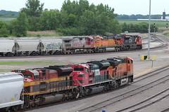 KCS 4046 (CC 8039) Tags: kcs fxe cn bnsf trains sd70ace es44ac c449w ac44cw sd70m2 warbonnet galesburg illinois