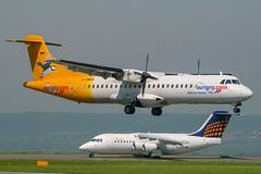 Aurigny Air - ATR 72-202 G-BWDA @ Bristol (Shaun Grist) Tags: gbwda aurigny atr72 shaungrist brs eggd bristol bristolairport bristollulsgate airport aircraft aviation aeroplanes airline avgeek landing 09