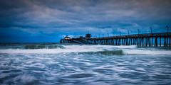 Imperial Beach Pier (Manuela Durson) Tags: pier san diego sandiego imperialbeach water waves ocean pacificocean california shore shoreline coast coastal coastline dramatic blue bluehour bluesky