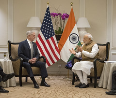 SD meets with Indian Prime Minister Narendra Modi (Secretary of Defense) Tags: shangriladialogue india indiaprimeminister secretarymattis secdef chaos 2018shangrila partnerships allies