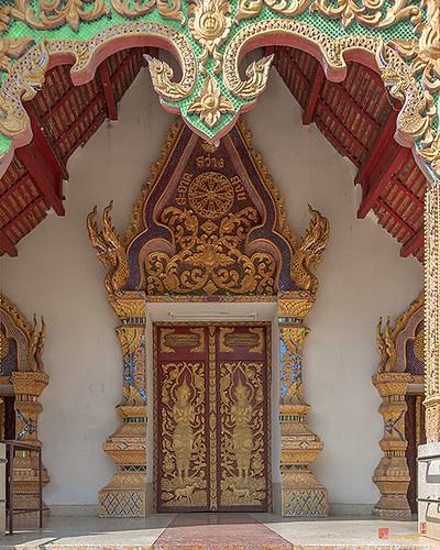 Wat Siri Mangkhlaram Phra Wihan Doors (DTHCM2243) วัดศิริมังคลาราม ประตู พระวิหาร