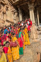 The queue to the temple (davidthegray) Tags: chola tamilnadu southindia shiva women india god sari unesco brihadisvara thanjavur silk temple hindu rajarajesvaram southernindia tanjavur tanjor tanjore दक्षिणभारत भारत தமிழ்நாடு தென்இந்தியா ದಕ್ಷಿಣಭಾರತ in