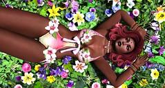Spring Goddess (Madame Mahogany) Tags: secondlife truthhair boudoir vitasboudoir floral goddess flowers heartdalejewelry maitreyabody spring
