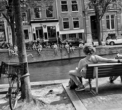 Amsterdam (puliMexNed) Tags: peopleonstreets people blackwhite canals amsterdam street streetphoto