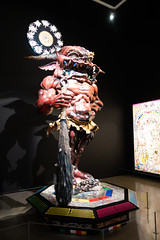 Ferocious monster with club (quinet) Tags: 2018 canada takashimurakami vancouver vancouverartgallery whistler britishcolumbia 124