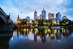Melbourne (Bill Thoo) Tags: melbourne victoria australia landscape city cityscape urban skyline travel night lights reflection yarrariver river princesbridge federationsquare longexposure sony a7rii ilce7rm2 batis zeiss bluehour