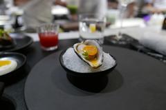 Ostión - Kusshi oyster (British Columbia CA), gooseberry, habanero (loustejskal) Tags: sanfrancisco california unitedstates sanfranciscofood sanfranciscorestaurant mexicanfood tastingmenu valcantu