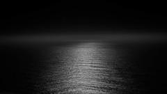Moonlight Sonata (World-viewer) Tags: seascape landcape marine water ngc canon moon night monochrome bw blackandwhite reflection moonlight perspective artistic sea ocean travel