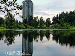 Twin tower? (thnewblack) Tags: huawei p20 p20pro leica leicaoptics android smartphone outdoors nature britishcolumbia reflection milllake snapseed 10mp f24 hybridzoom