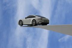 only flying is better ... (Wackelaugen) Tags: porsche car sportscar museum sky clouds 70 jahre jubiläum canon eos photo photography stephan wackelaugen