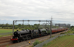The Lakes express Day one (Andrew Edkins) Tags: 60103 flyingscotsman a3class lner blackfive lms stanier 45212 lichfield lakesexpress railwayphotography travel trip passenger light canon geotagged june 2018 summer doubleheader pacific