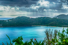 A Perfect Day at Magens Bay (tquist24) Tags: caribbean hdr magensbay magensbaybeach nikon nikond5300 outdoor usvirginislands virginislands beach clouds geotagged hills island ocean sky tropical water stthomas