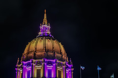 pump up the purple for lupus (pbo31) Tags: sanfrancisco california night dark black may 2018 city urban boury pbo31 color cityhall civiccenter lupus purple dome architecture illuminated