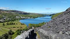 Lyn Padarn from Slate Path (Ian Gedge) Tags: wales cymru britain uk llanberis snowdonia llynpadarn slate path quarry mountain