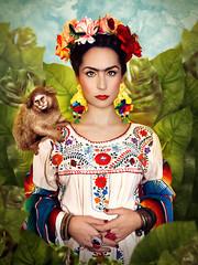 Iratxe Kahlo (KIKO ALCAZAR PHOTO) Tags: kikoalcazar interior golden gold gente digitalart popart art photo colour pink surrealista cover ilustración poster eye retrato yellow geometric fashion fridakahlo diegorivera frida mexico árbol