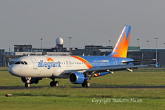A320-214 HZ-AS13 (N260NV) ALLEGIANT colours (shanairpic) Tags: jetairliner a320 airbusa320 shannon saudia allegiant hzas13 n260nv
