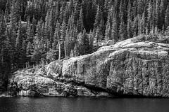 B-7081 (markbyzewski) Tags: blackandwhite elk lake sunrise rockymountainnationalpark estespark colorado