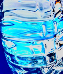 Bottle of Water (TPorter2006) Tags: bottle water drink h2o blue turquoise may 2018 texs tporter2006 reflection refraction